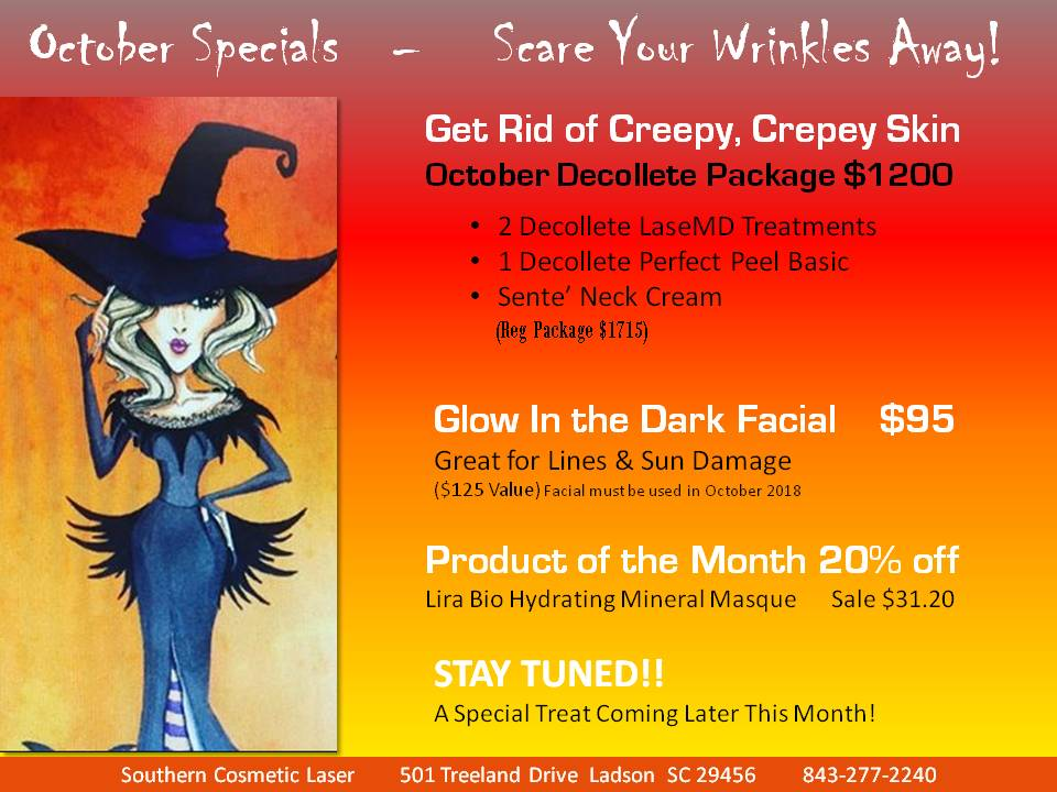 September Specials Charleston Monthly Specials at Southern Cosmetic Laser
